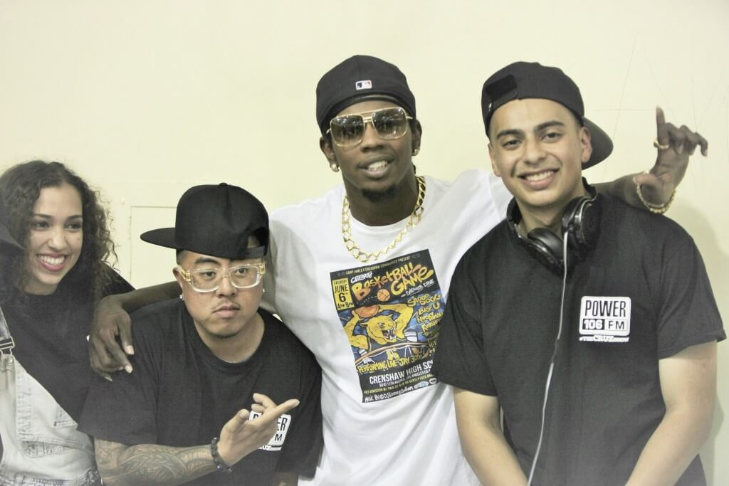 Trinidad James and Power 106 crew
