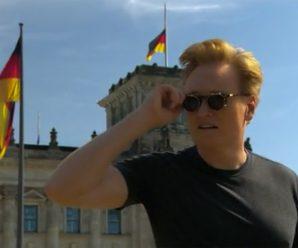 Conan Visits German Beer Hall, Nude Beach During Trip to Berlin