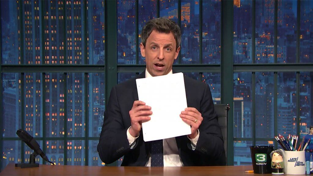 """Late-Night Hosts Deconstruct """"Hurricane Trump's"""" Press Conference"""